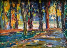 Wassily Kandinsky - Park of St Cloud - Autumn, 1906 at Lenbachhaus Art Gallery Munich Germany (by mbell1975)