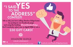 Facebook Yes to the Address Contest!