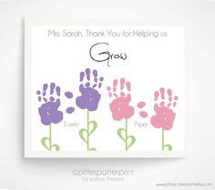 Gift for Teacher Nanny Daycare Babysitter by PitterPatterPrint, $30.00