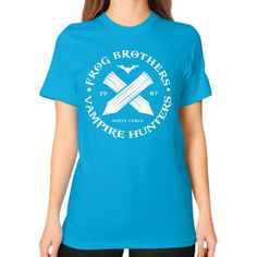 FROG BROTHERS 1987 Unisex T-Shirt (on woman)