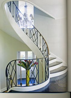 Love the rounded stairwell!