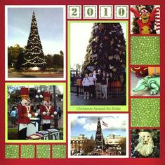 Disney Christmas 2010...uses a mosaic layout. All measurements found on the site.