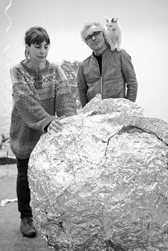 Ann Veronica Janssens & Michel François, photo Isabelle Arthuis A propos d'une comète | Mu-inthecity.com