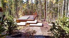 steel hot tub inn deck