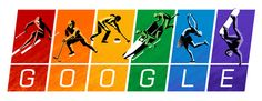 Minutes ago, Google posted their first Google Doodle, aka Google Logo, for the The Sochi 2014 Winter Olympics that kicks off tonight.  The logo shows the colors of the Rainbow Flag, also known as the LGBT pride flag...