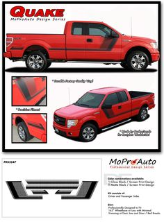 TREMOR FX APPEARANCE STYLE FORD F-SERIES F-150 - MoProAuto Pro Design Series Vinyl Graphics and Decals Kit