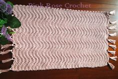 Pink Rose Crochet: Tapete