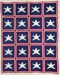 Free Pattern: Stars Crocheted Afghan