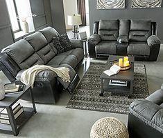 Earhart Manual Reclining Sofa | Ashley Furniture HomeStore Ashley Furniture Sofas, Living Room Furniture, Living Room Decor, Arrange Furniture, Living Room Essentials, Living Room Sets, Home Design, Interior Design, Interior Ideas