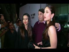 Karishma, Kareena and Saif Ali Khan at Randhir Kapoor's 68th birthday party celebration.