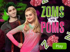 Play Tic Tac Toe -- ZOMS vs POMS based on the Disney Channel Original Movie ZOMBIES.