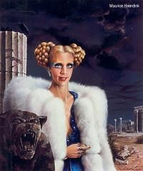 Painting by Carel Willink of Mathilde Willink