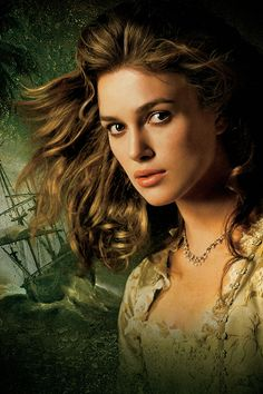 Keira Knightley as Elizabeth Swann in The Pirates of the Caribbean...Elaborate bodices and delicate pearls