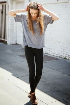 Gray Blouse Summer Outfit