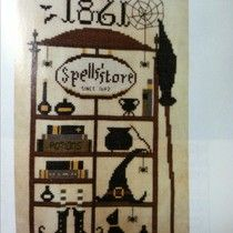Tot Hill Farm Stitches JCS Halloween 2013- Spells' store by The Primitive Hare