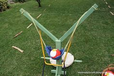 Angry Bird slingshot, love to do this w/ water balloons!