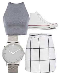 """""""grey"""" by cornelius-amaya on Polyvore featuring Larsson & Jennings and Converse"""