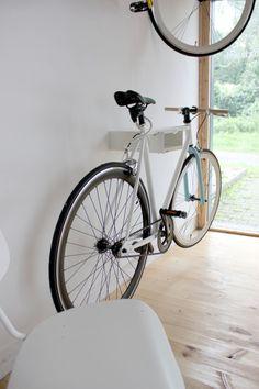 Bikeshelf velo-fermata bianco / noce