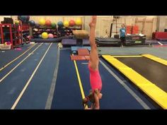 Case study of one gymnast who improved her handstand, her split leap and her overall strength and flexibility in order to add points to her all around score. All About Gymnastics, Gymnastics Floor, Gymnastics Skills, Gymnastics Coaching, Amazing Gymnastics, Gymnastics Training, Gymnastics Gifts, Gymnastics Workout, Artists