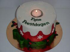 Kaars taart voor kerst