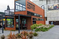 shipping container bar coffee More