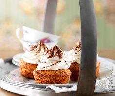 Tiramisu-Cupcakes  Der Klassiker als Cupcake mit einer feinen Haube aus Mascarpone, Espresso und leckerem Biskuitteig!