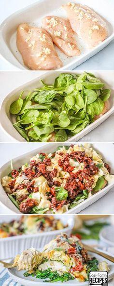 This is MY FAVORITE dinner ever!!! Tuscan Garlic Chicken recipe #recipe #dinner #chicken #italianfood