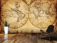 World Map Wallpaper | Map Wall Murals | Wallsauce