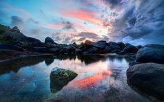небо, камни, пейзаж, море