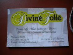 Carte de visite - Divine Folie