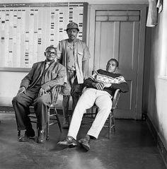 Time-office clerks and a miner, City Deep Gold Mine. 6 Photos, Couple Photos, David Goldblatt, The Past, African, Deep, History, Portrait, Gallery