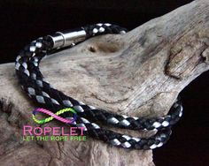 Gorgeous black and silver Ropelet in a double wrap, handmade rope bracelets by www.ropelet.co.uk #ropelet #ropebracelet #bracelet