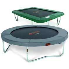 Forest Green or Titanium Grey? ➡➡ What color do you prefer❔ #trampoline  Let's us know - Share the Fun - Happy #jumping  #Avyna #trampolines #PhotoGrid #proline #trampolinefun