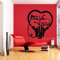 Wall Decal Decor Decals Sticker Art Vnyl Design Love Inscription Sound Music Headphones Club Bedroom Play Lounge Head Room (M1221) DecorWallDecals http://www.amazon.com/dp/B00MGJ3XS4/ref=cm_sw_r_pi_dp_CMW2ub104P605