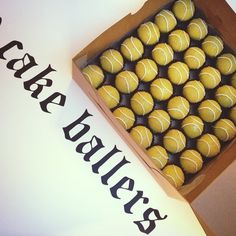 Cake Ballers tennis ball cake balls. Or to make at home make vanilla Oreo truffles with bits of strawberry.