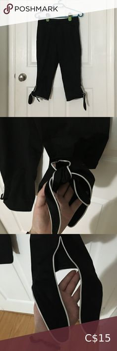 2/$25 Black Knee Length Pants Cute self tie end 10/10 condition Pants Black Knees, Pants For Women, Tie, Best Deals, Closet, Things To Sell, Fashion, Moda, Armoire