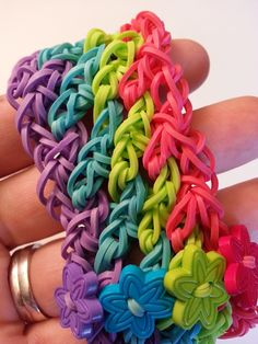 Rainbow Loom Lattice Bracelet Tutorial