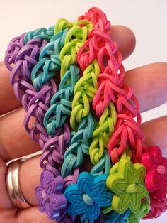 Rainbow Loom Lattice Bracelet Tutorial