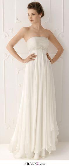 beach wedding dress,casual &simple wedding dress