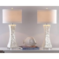 """Shelley Concave 30.5"""" Table Lamp (Set of 2)"""