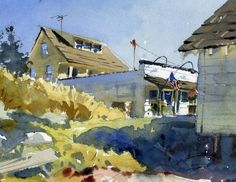 Fourth of July by Mike Kowalski Watercolor ~ 7 x 10