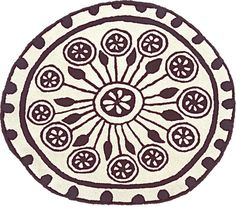Rangoli 1 Rug by Nanimarquina   A rangoli is a Hindu floral design with a long historic tradition, which is placed on the floor at the entrance of some houses or buildings as a welcome symbol, or to provide protection, or wish good luck
