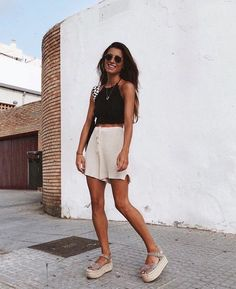 0 warm weather outfits, spring summer fashion, spring outfits, downtown out Casual Summer Outfits, Outfits For Teens, Spring Outfits, Trendy Outfits, Cute Outfits, Fashion Outfits, Womens Fashion, Spring Dresses, Summer Date Night Outfit