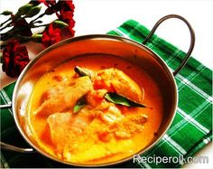 Malabar Fish Curry/Kannur Fish Curry / Pacha Manga Meen Curry ~ Sankeerthanam (Reciperoll.com)|Recipes | Cake Decorations | Cup Cakes |Food Photos