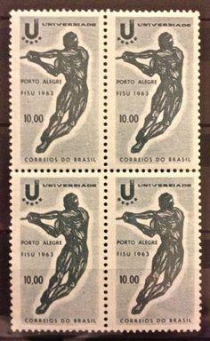 Official stamp of the 1963 Summer Universiade in Porto Alegre, Brazil