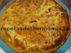 Quiche de jamón y queso preparado con Thermomix
