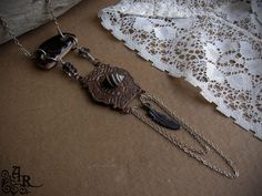Rustic Assemblage Necklace with Vintage Copper by artefactredux, $31.00