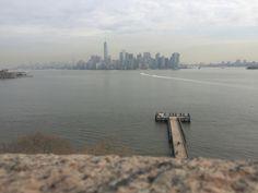 skyline depuis statue de la liberte