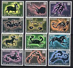 San Marino Postage Stamp   - Zodiac signs