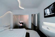 Apartment Interior Design Futuristic Bedroom